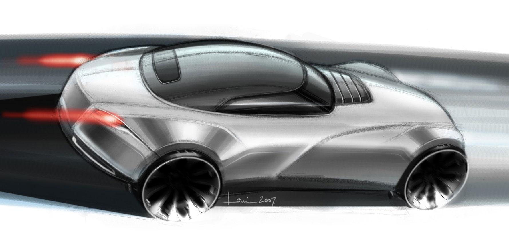 Learning Curves Concept Car Sketch Car Body Design