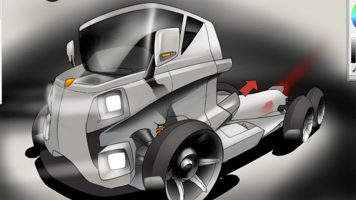 Autodesk Sketchbook Pro 6 Car Body Design