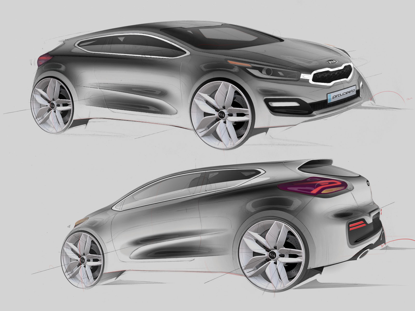 2012 kia pro cee 39 d design sketches car body design. Black Bedroom Furniture Sets. Home Design Ideas